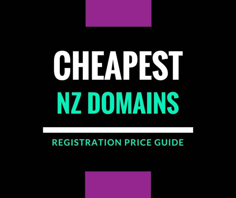 cheapest nz domain registration